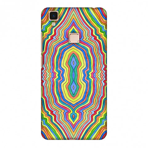 Psychedelic Waters - Warm Yellow Slim Hard Shell Case For Vivo V3 Max