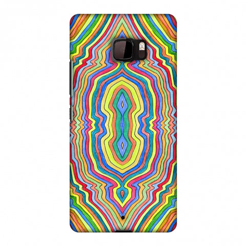 Psychedelic Waters - Warm Yellow Slim Hard Shell Case For HTC U Ultra