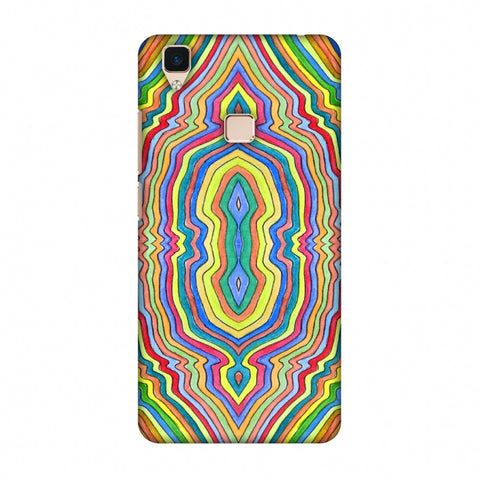 Psychedelic Waters - Warm Yellow Slim Hard Shell Case For Vivo V3