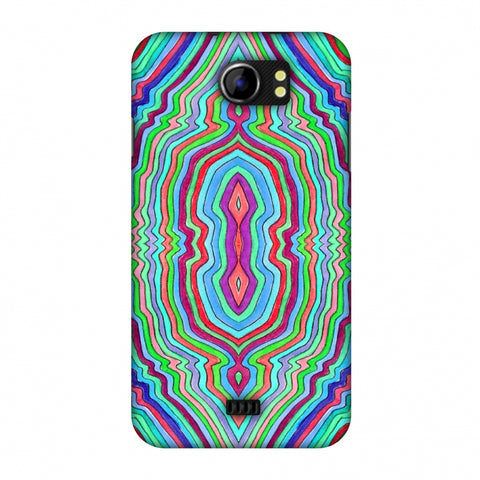 Psychedelic Waters - Cool Blues Slim Hard Shell Case For Micromax Canvas 2 A110