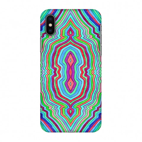 Psychedelic Waters - Cool Blues Slim Hard Shell Case For Apple iPhone X