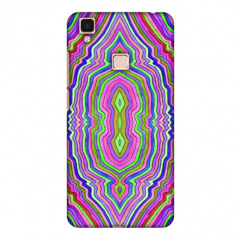 Psychedelic Waters - Pop Pink Slim Hard Shell Case For Vivo V3 Max