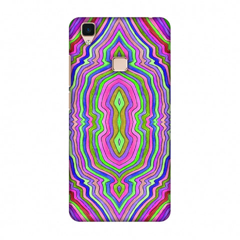 Psychedelic Waters - Pop Pink Slim Hard Shell Case For Vivo V3