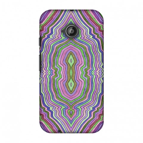 Psychedelic Waters - Saturated Violet Slim Hard Shell Case For Motorola Moto E 2nd Gen