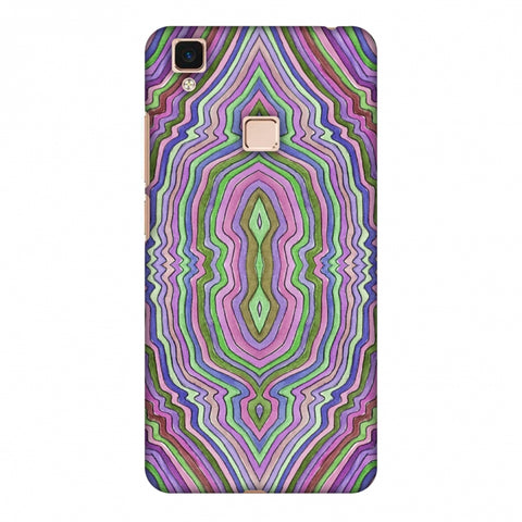 Psychedelic Waters - Saturated Violet Slim Hard Shell Case For Vivo V3 Max