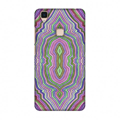 Psychedelic Waters - Saturated Violet Slim Hard Shell Case For Vivo V3