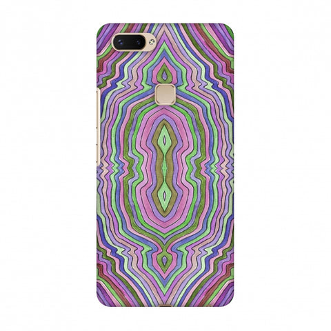 Psychedelic Waters - Saturated Violet Slim Hard Shell Case For Vivo X20 Plus