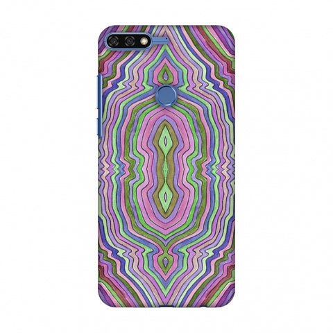 Psychedelic Waters - Saturated Violet Slim Hard Shell Case For Huawei Honor 7C