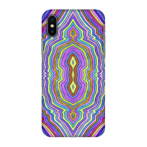 Psychedelic Waters - IncAndescent Purple Slim Hard Shell Case For Apple iPhone X