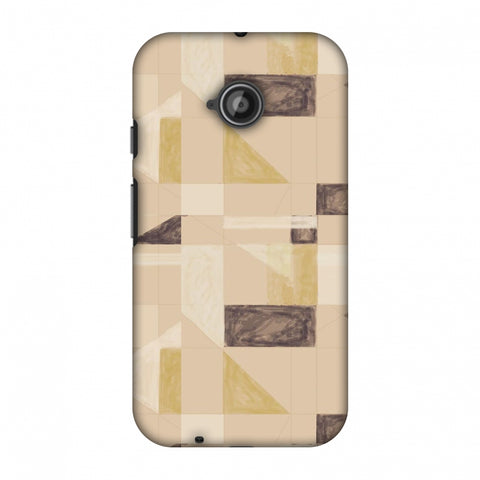 Sooty Pastels - Beige And Brown Slim Hard Shell Case For Motorola Moto E 2nd Gen
