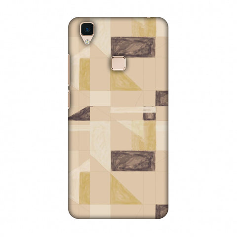 Sooty Pastels - Beige And Brown Slim Hard Shell Case For Vivo V3