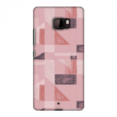 Sooty Pastels - Coral Slim Hard Shell Case For HTC U Ultra
