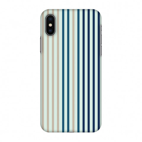 Stripes - Blues Slim Hard Shell Case For Apple iPhone X