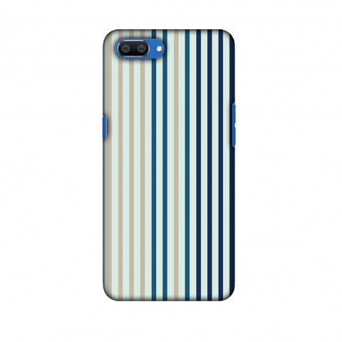 Stripes - Blues Slim Hard Shell Case For Oppo Realme C1