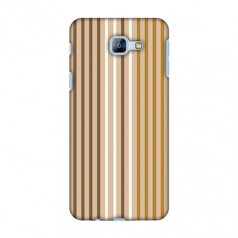 Stripes - Beige And Musrtard Slim Hard Shell Case For Samsung Galaxy A8 2016