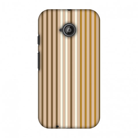 Stripes - Beige And Musrtard Slim Hard Shell Case For Motorola Moto E 2nd Gen
