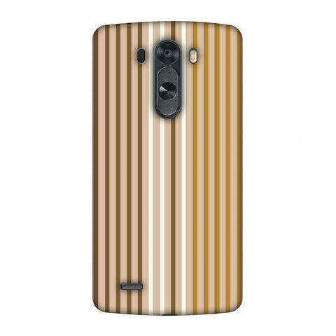 Stripes - Beige And Musrtard Slim Hard Shell Case For LG G4