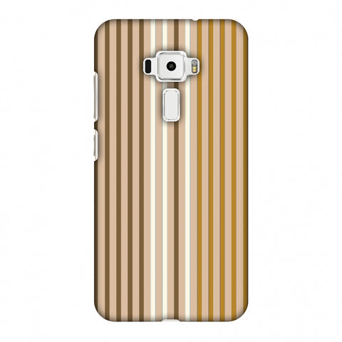 Stripes - Beige And Musrtard Slim Hard Shell Case For Asus Zenfone 3 ZE520KL