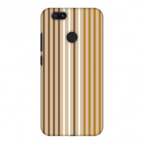 Stripes - Beige And Musrtard Slim Hard Shell Case For Xiaomi MI A1-5X