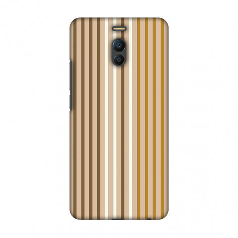Stripes - Beige And Musrtard Slim Hard Shell Case For Meizu Note 6