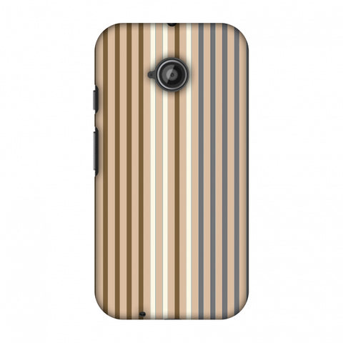 Stripes - Beige And Grey Slim Hard Shell Case For Motorola Moto E 2nd Gen