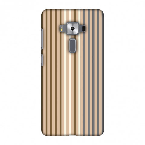 Stripes - Beige And Grey Slim Hard Shell Case For Asus Zenfone 3 Deluxe ZS570KL