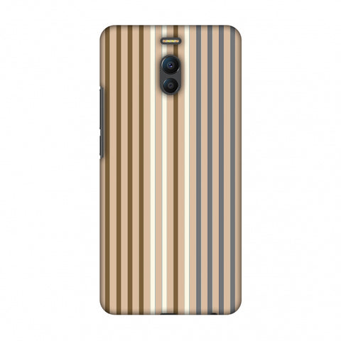 Stripes - Beige And Grey Slim Hard Shell Case For Meizu Note 6