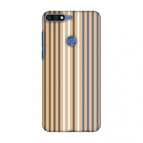 Stripes - Beige And Grey Slim Hard Shell Case For Huawei Honor 7C