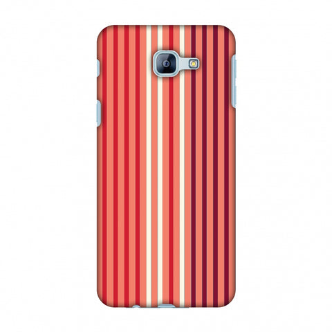 Stripes - Coral And Red Slim Hard Shell Case For Samsung Galaxy A8 2016