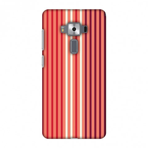 Stripes - Coral And Red Slim Hard Shell Case For Asus Zenfone 3 Deluxe ZS570KL
