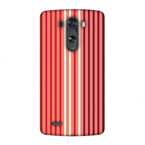 Stripes - Coral And Red Slim Hard Shell Case For LG G4