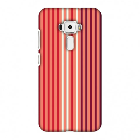 Stripes - Coral And Red Slim Hard Shell Case For Asus Zenfone 3 ZE520KL