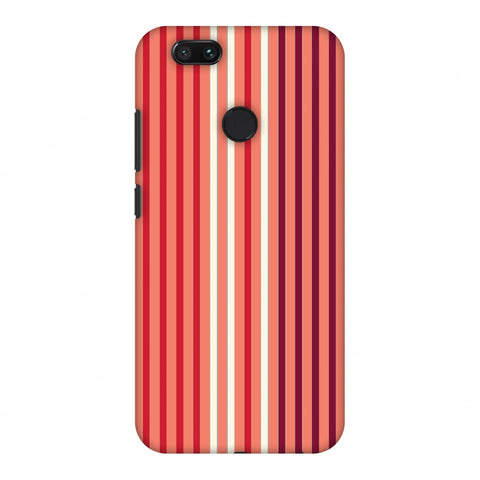 Stripes - Coral And Red Slim Hard Shell Case For Xiaomi MI A1-5X