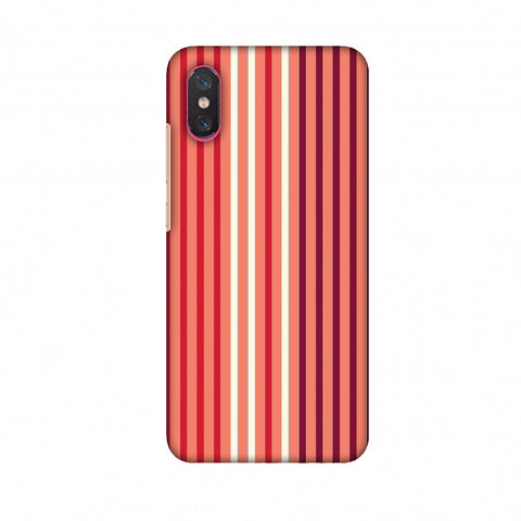 Stripes - Coral And Red Slim Hard Shell Case For Xiaomi Mi 8 Pro