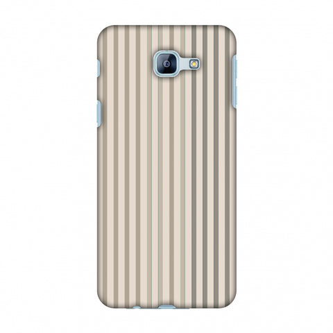 Stripes - Beige And Faded Bronze Slim Hard Shell Case For Samsung Galaxy A8 2016