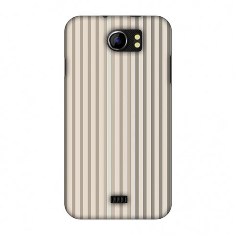 Stripes - Beige And Faded Bronze Slim Hard Shell Case For Micromax Canvas 2 A110
