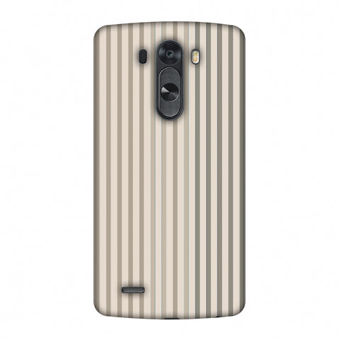Stripes - Beige And Faded Bronze Slim Hard Shell Case For LG G4