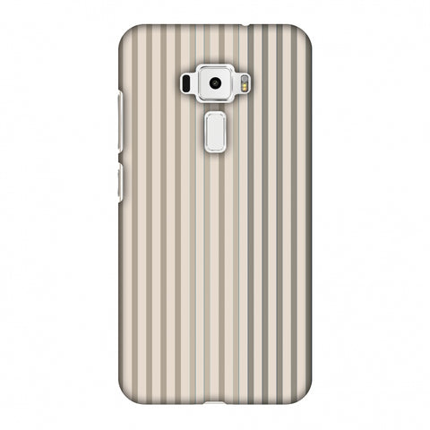 Stripes - Beige And Faded Bronze Slim Hard Shell Case For Asus Zenfone 3 ZE520KL