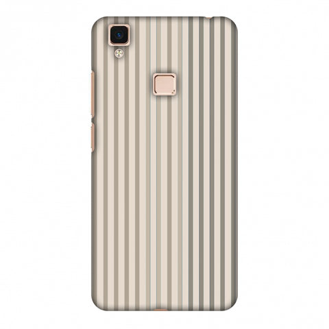 Stripes - Beige And Faded Bronze Slim Hard Shell Case For Vivo V3 Max