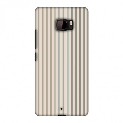 Stripes - Beige And Faded Bronze Slim Hard Shell Case For HTC U Ultra