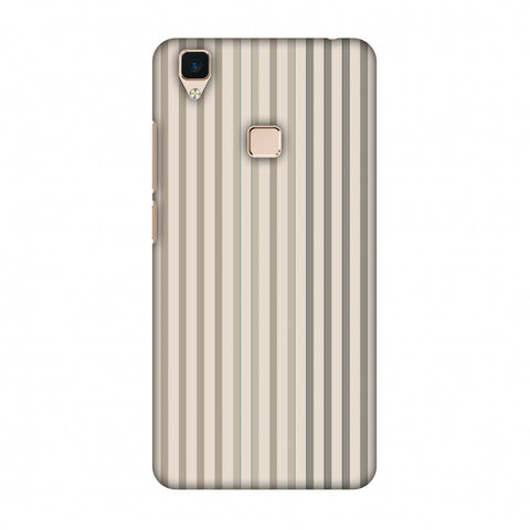 Stripes - Beige And Faded Bronze Slim Hard Shell Case For Vivo V3
