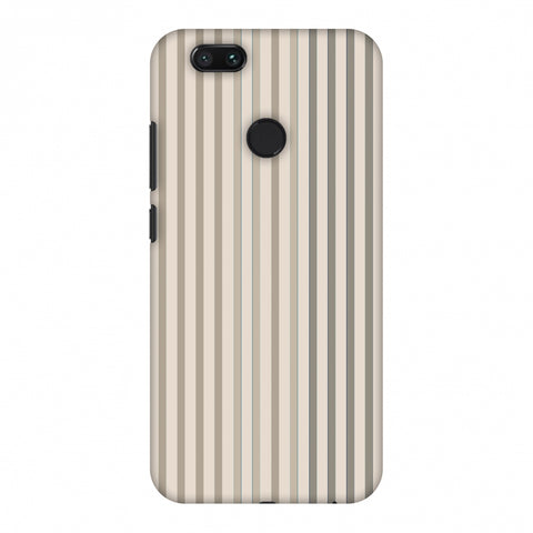 Stripes - Beige And Faded Bronze Slim Hard Shell Case For Xiaomi MI A1-5X