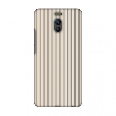 Stripes - Beige And Faded Bronze Slim Hard Shell Case For Meizu Note 6