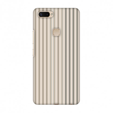 Stripes - Beige And Faded Bronze Slim Hard Shell Case For Vivo X20 Plus