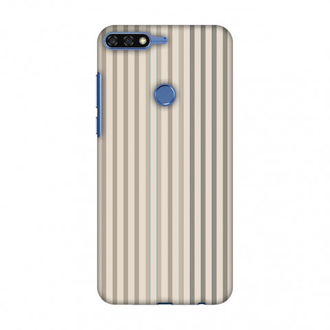 Stripes - Beige And Faded Bronze Slim Hard Shell Case For Huawei Honor 7C