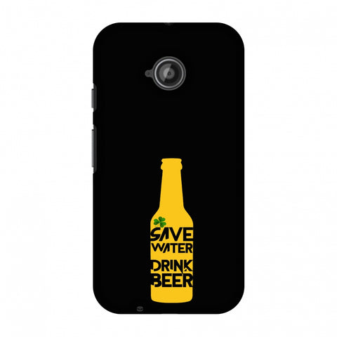 Save Water Drink Beer - Black Slim Hard Shell Case For Motorola Moto E 2nd Gen