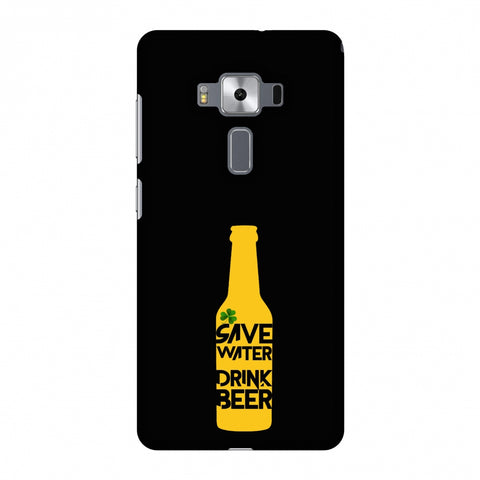 Save Water Drink Beer - Black Slim Hard Shell Case For Asus Zenfone 3 Deluxe ZS570KL