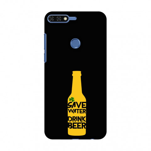 Save Water Drink Beer - Black Slim Hard Shell Case For Huawei Honor 7C