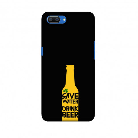 Save Water Drink Beer - Black Slim Hard Shell Case For Oppo Realme C1