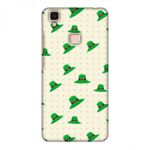Irish Hats - Green Slim Hard Shell Case For Vivo V3 Max